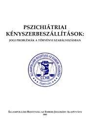 pszichiátriai kényszerbeszállítások - Állampolgári Bizottság az ...