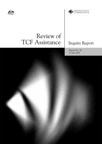 Inquiry Report (PDF 1.4 MB) - Productivity Commission