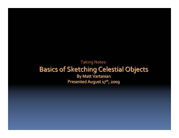 Basics of Sketching Celestial Objects - Rose City Astronomers