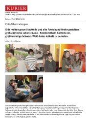Foto-Übermalungen Kids malten graue Stadtteile und alte Fotos ...