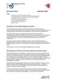 WJ Hessen News September 2008 - Wirtschaftsjunioren Hessen