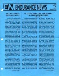 r:#~J ENDURANCE NEWS - Hammer Nutrition
