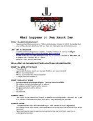 What happens on Run Amuck Day - Junior League of Corpus Christi