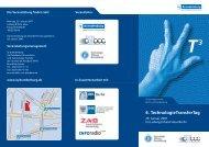 6. TechnologieTransferTag - Technologie Stiftung Brandenburg