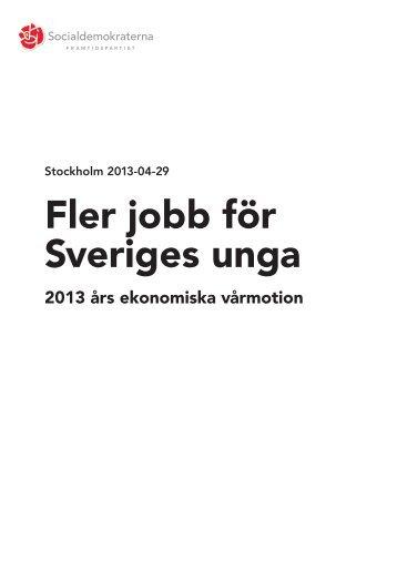 vårbudgeten - Socialdemokraterna