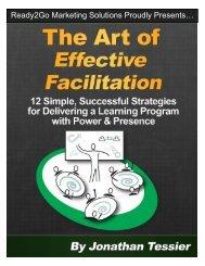 The Art of Effective Facilitation - Ready2Go Marketing Solutions, Inc.