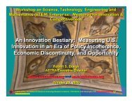 © 2009 ASTRA, The Alliance for Science ... - US Innovation
