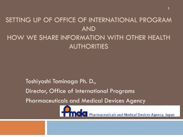 Setting Up the Office of International Programs Within the Japanese ...