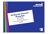 The Many Uses of Succession Planning Data - IPAC