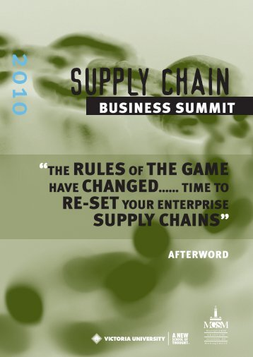 Afterword - 2012 Global Supply Chain Business Summit