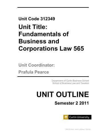 Unit Outline 10852 Organisational Behaviour 200 Semester 2