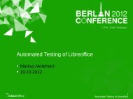 You are a ... How to help with automated testing? - LibreOffice ...