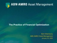 The Practice of Financial Optimization - LNMB