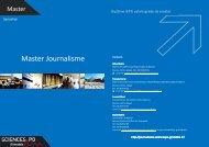 Master Journalisme - Sciences Po Grenoble