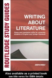 Writing About Literature: Essay and Translation Skills for University ...