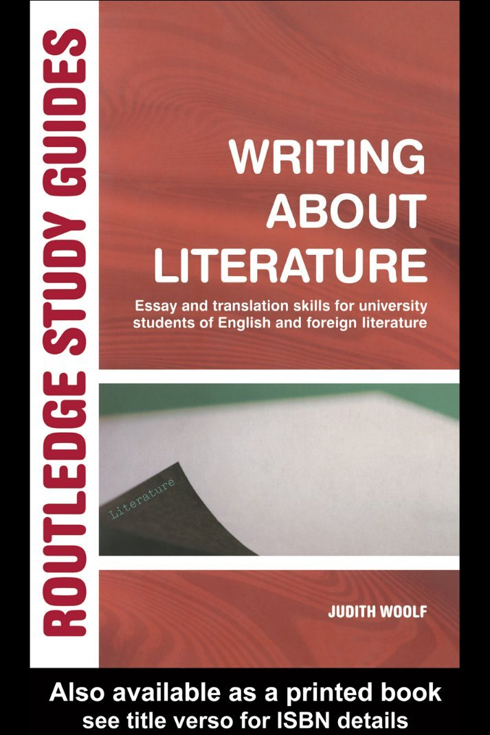 writing essay about literature These owl resources will help you write about literature and poetry this section contains resources on literary terms, literary theory and schools of criticism, as well as resources on writing book reviews.