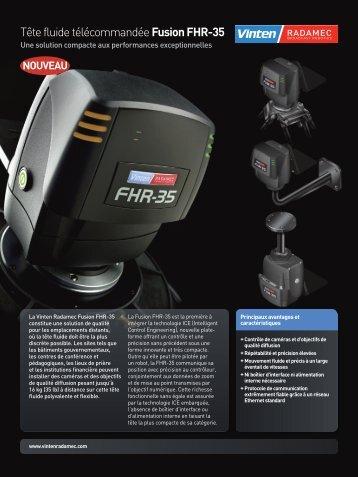 Tête fluide télécommandée Fusion FHR-35 - Vinten Radamec