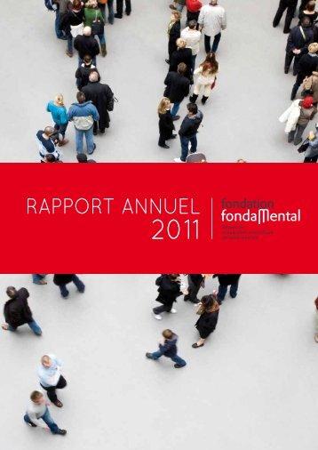 Rapport d'activité 2011 - Fondation FondaMental