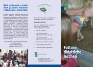 Fattorie - Provincia di Lecco