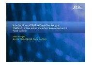 Introduction to XAM - EMC Community Network