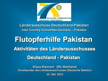 Pakistanhilfe Rotary - Länderausschuss Deutschland-Pakistan