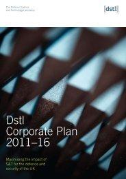 Dstl Corporate Plan 2011–16