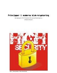Principper i moderne blok Principper i moderne blok-kryptering ...