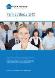 Training Calendar 2012 - Medical Technology Association of Australia
