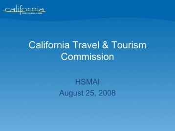 California Travel & Tourism Commission - California Tourism