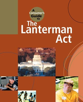A Consumer's Guide to the Lanterman Act - California State Council ...