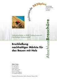 Holzwende 2020plus - Nachhaltige Waldwirtschaft