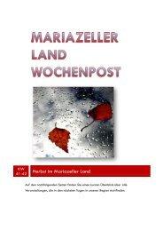 Mariazeller Wochenpost KW 41-42 - Mariazellerland Blog