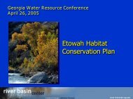 Etowah Habitat Conservation Plan - River Basin Center at the ...