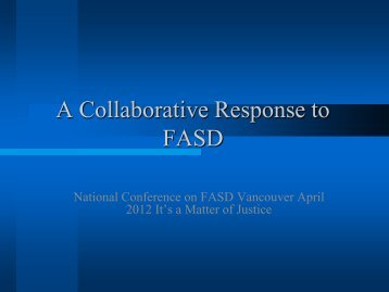 Exploring a Collaborative Response to FASD and Criminal Justice ...
