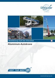 Aluminium-Autokrane - Böcker