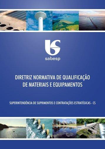 diretriz normativa de qualificação de materiais e ... - Sabesp