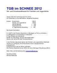 TGB im SCHNEE 2012