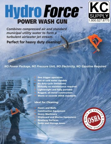Hydro Force Power Wash Gun