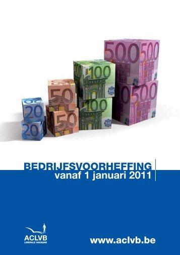 Bedrijfsvoorheffing : schalen 2011 - Aclvb