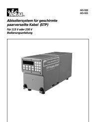 Abisoliersystem für geschirmte paarverseilte Kabel (STP)