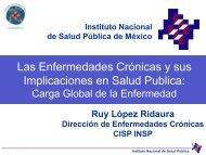 Las Enfermedades Crónicas y sus Implicaciones en Salud Publica: