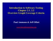 Introduction to Software Testing Chapter 2.1, 2.2 Overview Graph ...