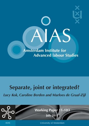 Separate, joint or integrated? - AIAS