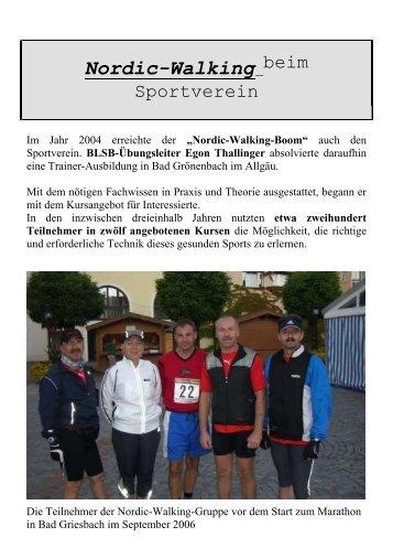 Chronik Nordic Walking - SV Hebertsfelden