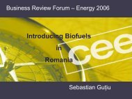 Introducing Biofuels in Romania - petroleumclub.ro