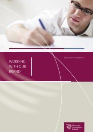 Chartered Accountants Ireland Full Brand Mark Guidelines