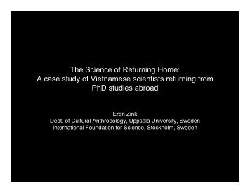 The Science of Returning Home - Vietnam Education Foundation