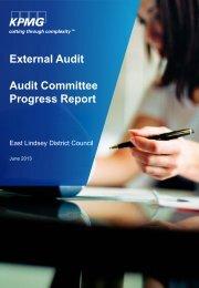 External Audit Audit Committee Progress Report - East Lindsey ...