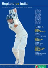 England vs India - Ecb - England and Wales Cricket Board