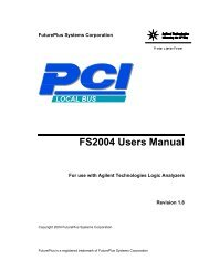 FS2004 Users Manual - FuturePlus Systems